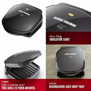 George Foreman Classic Indoor Grill + Panini Press